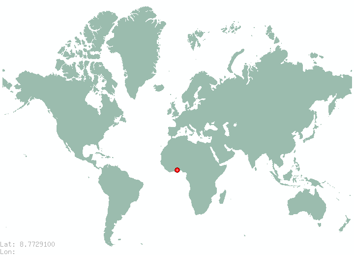 Volcan in world map